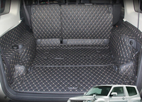 Best Free Shipping Special Trunk Mats For Mitsubishi Pajero 5seats 2014 2011 Waterproof Leather Luggage Mats