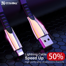 цена на Coolreall 2.4A USB cable  For iPhone Xs Max Xr X 8 7 6 6s plus 5 5s iPad fast charging cables mobile phone charger cord data
