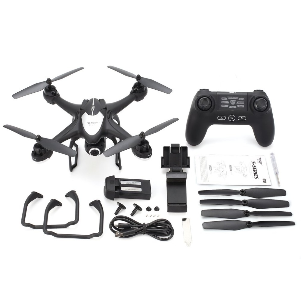 SJ R/C S30W 2.4G Dual GPS Positioning FPV RC Quadcopter Drone with 1080P Adjustable Wide Angle Wifi Camera Follow Me Hovering