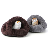 Hot Sales Soft Cat Pet Nest Small Animal Cave Nest Puppy Dog Kennel Teddy VIP Cute