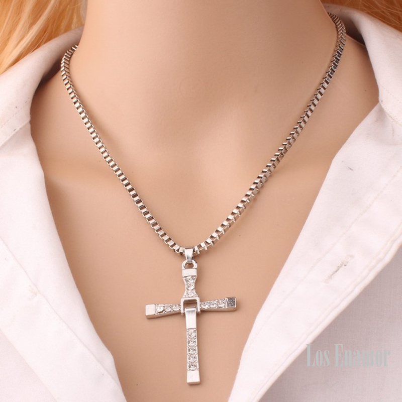 New Male Necklaces & Pendants Fashion Movie jewelry The Fast and The Furious Toretto Men Classic CROSS Pendant Necklace12