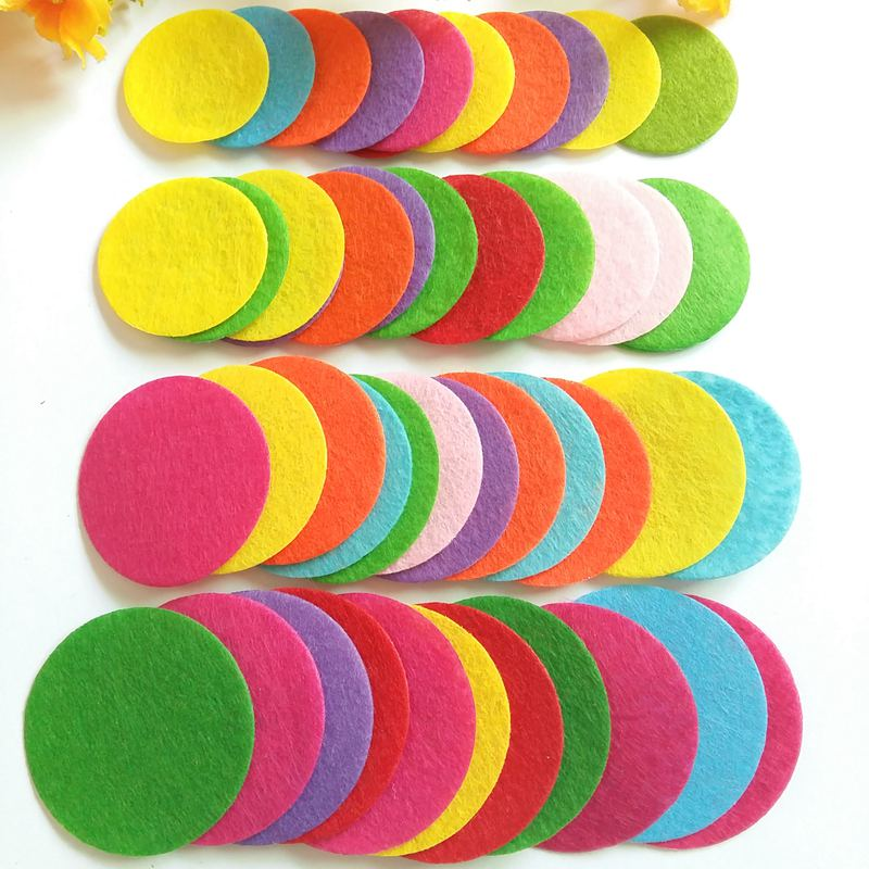 50pieces 35,40,45,<font><b>50mm</b></font> mix color Non-woven fabric Padded <font><b>Felt</b></font> round shape craft DIY Appliques Clothing decoration fabric flower image