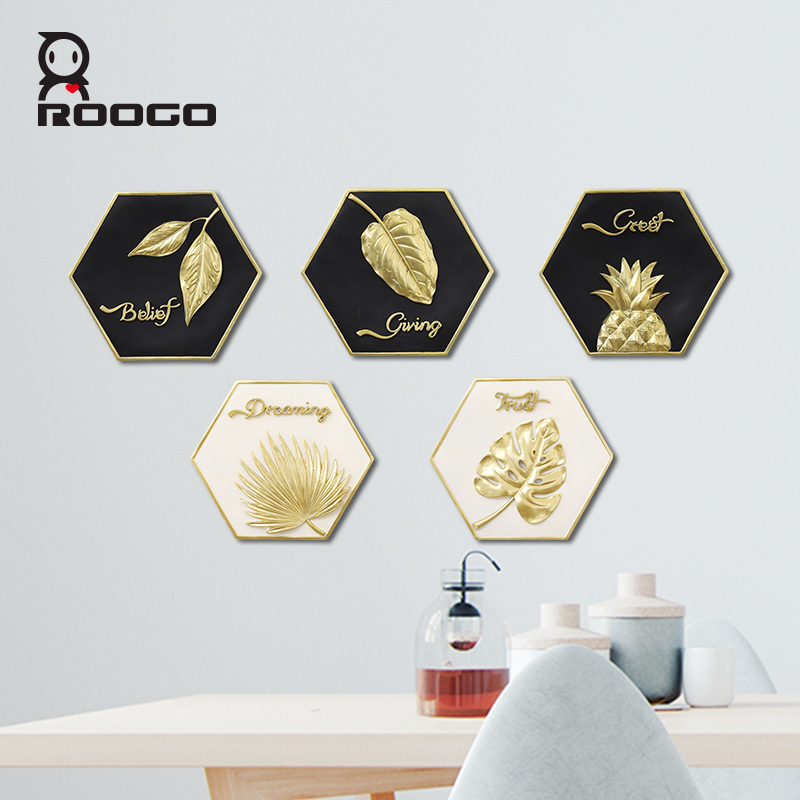 ROOGO wall hanging decoration Rainforest hanger Simple and light luxury home kids room decor meaningful words for gifts ornament