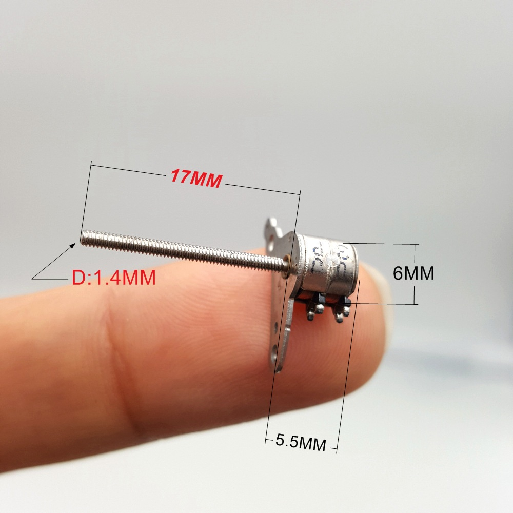 10PCS Micro 6MM 2-Phase 4-Wire Stepper Motor Mini 6.5mm*6mm Stepping Motor DIY