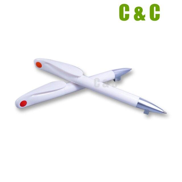 Low Price Wholesale Ballpoint Pen Customized Logo Heat Transfer not Sublimation Blank White Pen 100PCS NO