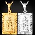 Желтого Золота Гальваническим Благословение Темный Воин Кулон Темно-Божество Ожерелья Для Сюаньу Император Лаки Амулет Подвески Даосизм Украшения P1405