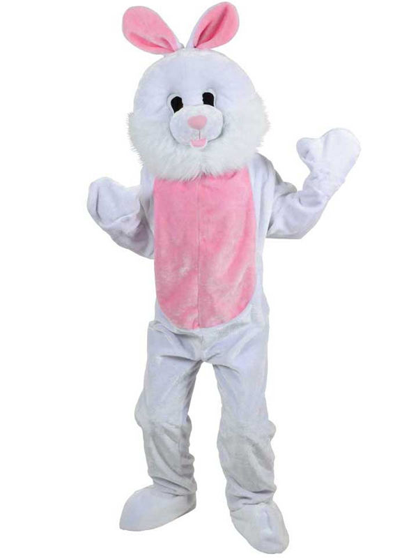 Plush Adult Mascot Bunny Rabbit Animal Fancy Dress Costume Jumpsuit Easter Event Easters and dog mascot