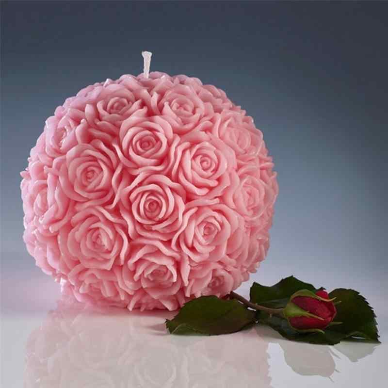 Special Romantic Flower Candle Rose Ball Shaped Candle For Birthday Party Wedding Decorations