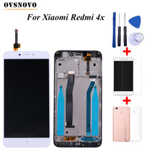 100% No Dead For Xiaomi Redmi 4X LCD Display Touch Screen Digitizer Replacement Assembly with frame+Tools&Tempered film&TPU Case(China)