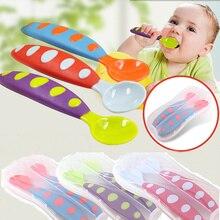 2 шт. детская посуда детский набор ложка и вилка Детская безопасность посуды посуда для младенцев цельные столовые приборы для кормления ребенка миска для кормления