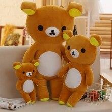 30/60/80 Cm Soft Rilakkuma Bear Plush Toy Stuffed Animal Kuma Toys For Children Home Decoration Decent Bed