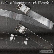 2 pair 1.5cm wide bra straps transparent frosted women's bra straps baldric adjustable intimates accessories