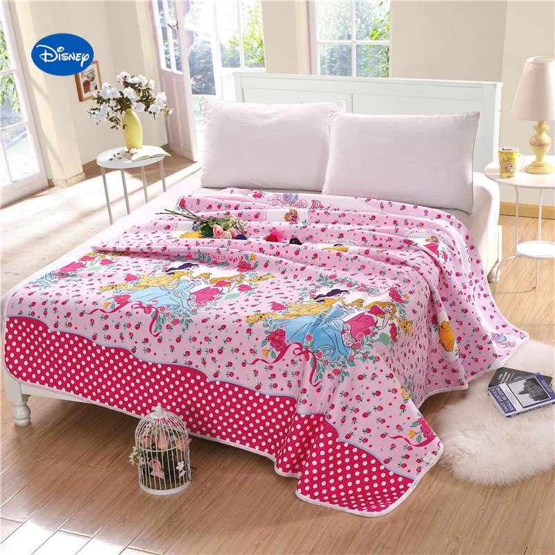 Us 51 59 14 Off Pink Polka Dot Disney Princess Quilts Summer Comforters Bed Sets Girls Children S Bedroom Bedding Single Twin Full Queen Cotton In