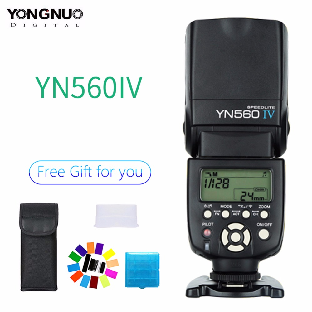 Yongnuo YN560 IV YN-560 IV Master Slave Radio Flash Speedlight with Built in Radio Trigger Flash for Canon Nikon CameraYongnuo YN560 IV YN-560 IV Master Slave Radio Flash Speedlight with Built in Radio Trigger Flash for Canon Nikon Camera