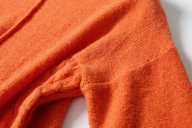 Sky 3 La Lumineux orange Taille De Sur Tricot Femmes Café Couleurs Laine Mode amp; Clip One Blue Pull coffee Mélange Robe Fil Irrégulière Hem tUwqORg