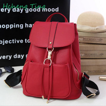 Women Leather Backpack Female Korean School Bag Backpacks for Teenage Girls Feminine Backpack Youth sac a dos mochila