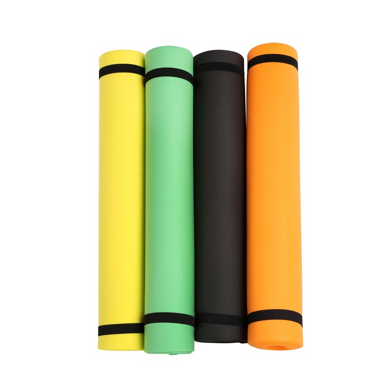 New Solid Color EVA High Quality Yoga Mat Sports Outdoor Camping Moisture Sports Pad 4mm Fitness Blanket