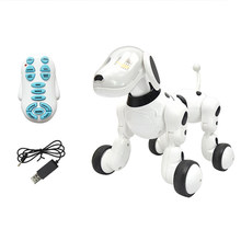 Educational Birthday Gift Electronic Pet Funny 2.4G Intelligent Talking Remote Control Robot Dog Kids Toy Smart Wireless Dancing(China)