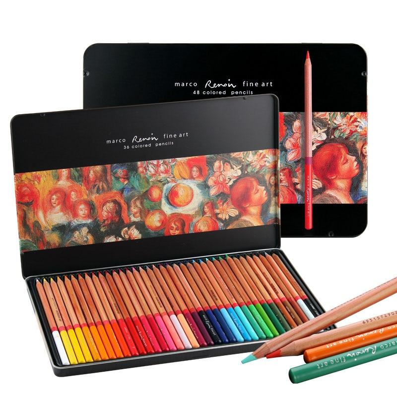 Marco Renoir 24 36 48 72 100 color oily professional art color pencil 3100