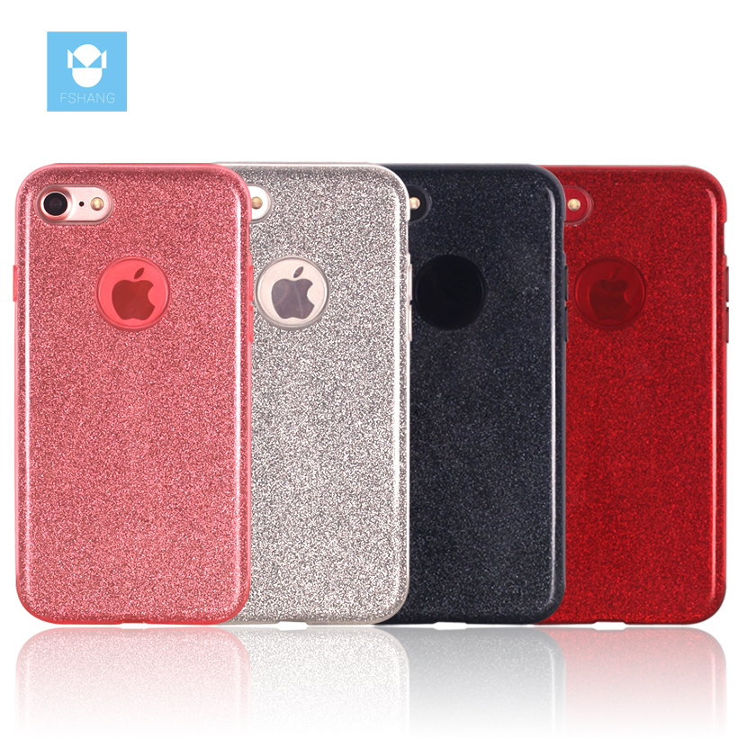 FSHANG for iphone 7 7Plus Case Glitter Cute Cover for Apple iPhone7 plus Luxury Soft Silicone Mobile phone Coque Bags & Cases