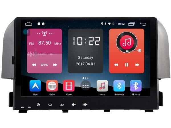 Deckless no dvd hd 1024*600 quad core 2 Gb ram android 6.0 autoradio gps système de navigation pour honda civic 2016 radio tête unités