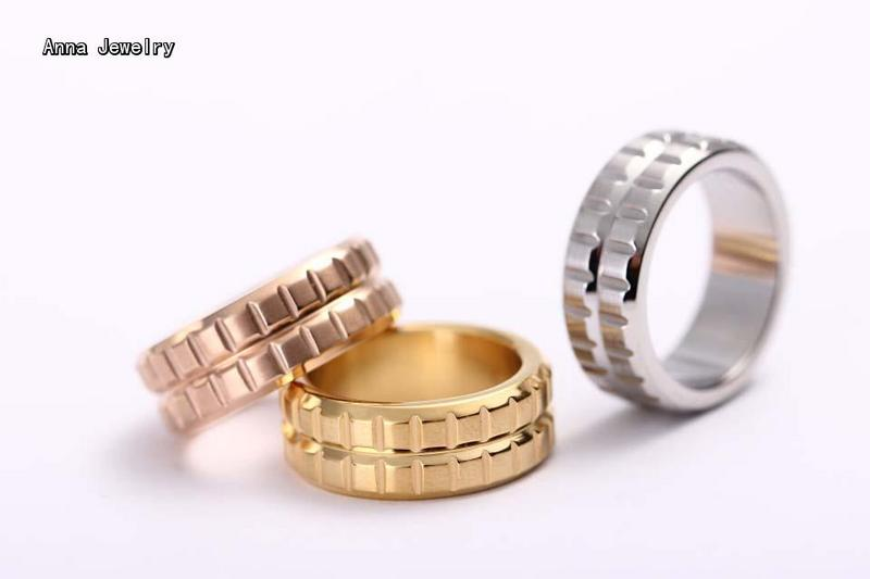 new elegant designer punk pop rivet ringin 316l stainless steel material with samll - Wedding Ring Prices