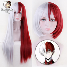 Anime Boku no Hero Academia Todoroki Shoto Cosplay Costume Wig My Hero Academia Men Women Synthetic Hair Wigs + Wig Cap