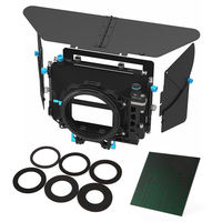 FOTGA DP500III DSLR Swing away Matte Box+ND1000 4X4 Glass Filter for 15mm Rod Rig