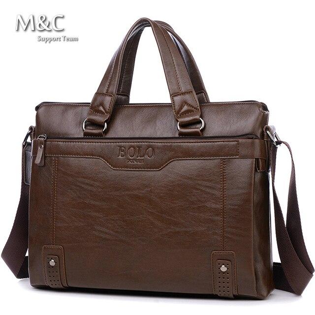 Men Bags Men Business Leather Briefcase Bags Vintage Shoulder Computer Bag Luxury Leather Handbags Messenger Bag 2017 OB-026