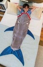 Зимний мягкий флисовый Акула хвост русалки Одеяло детский спальный мешок одеяло дети цельнокроеное одеяло Спальный мешок подарок на день рождения