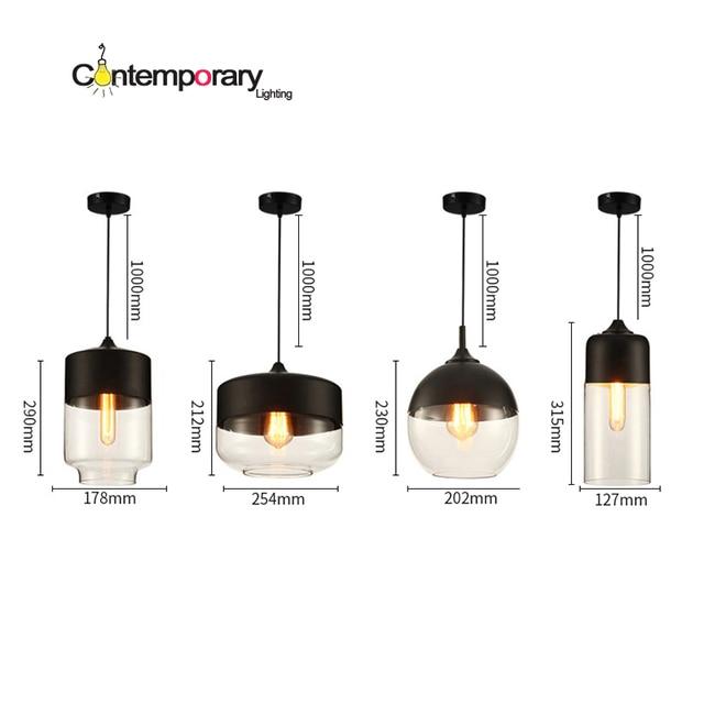 Industrial Loft Blown Glass Parallel Pendant Light Vintage Metal Lamps For Restaurant Dining Room Hanging