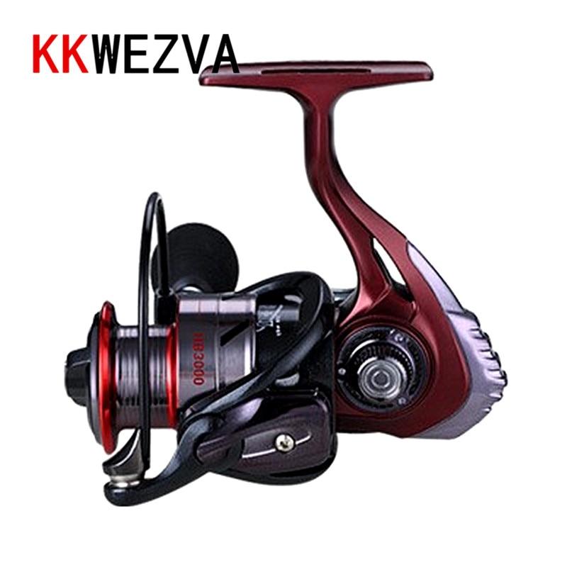 KKWEZVA Metal Deep cup 2000H-5000H Spinning Fishing Reel Hi-Speed Full Metal Spinning Wheel + Metal Rocker And EVA hold