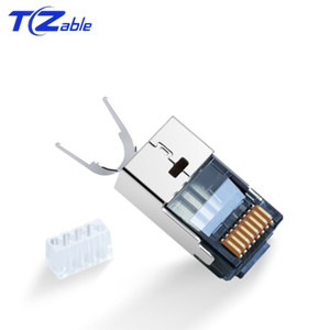 Image 4 - Cat6 Cat7 RJ45 Connector Ethernet Adapter 8P8C Network Extender Extension Cable Gold Plated Shield Modular RJ 45 Connector
