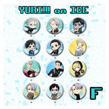 58MM Anime Badge Yuri on Ice!! Katsuki Yuri Plisetsky Victor Nikiforov Badge Yuri on Ice Pin Brooch Round Cute Badge Backpack