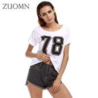 Moda Numarası 78 Baskı T Gömlek Gençlik Lady Yaz Kısa kollu Tee Gömlek Beyaz Rahat CottonT-gömlek Tops Artı Boyutu 4XL Y98