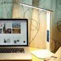 Складной 4 Вт СВЕТОДИОДНЫЕ Настольные Лампы с Ребенком Глаз-Предохранение свет Настольная Лампа для изучения Портативный ED Свет С календарь Сигнализация Colck