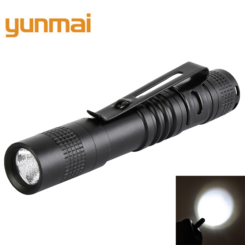 Mini Penlight XPE-R5 LED Flashlight Torch Hugs By Pocket Light 1 Switch Modes Outdoor Camping Light For 1* AAA Battery B22