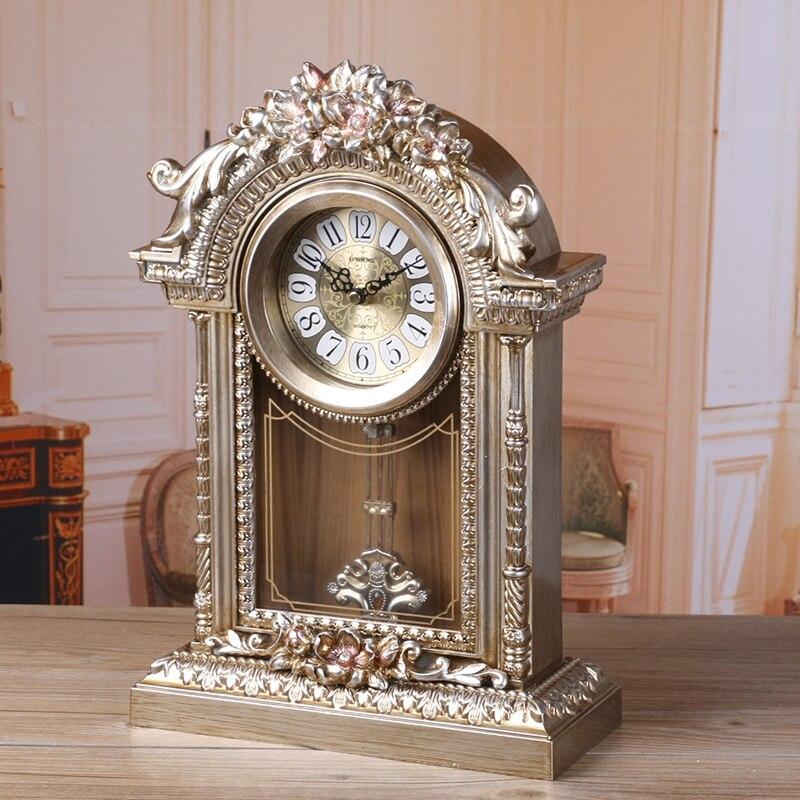 Meijswxj horloge de bureau Saat Reloj Relogio Clocky muet pendule support horloge chevet horloges Masa saati Relogio de mesa décor à la maison