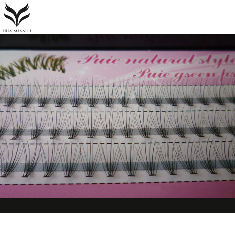Grafting False Eyelashes Professional Natural Long Curl Synthetic Hair Fake Eyelashes Artificial Individual Cluster Eyelashes ...