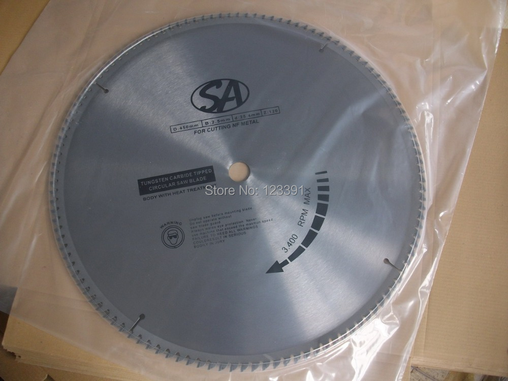 Free shipping of standard quality 250*2.8*25.4*60T  TCT saw blade for NF metal aluminum/copper/brass/zinc/lead billet cutting 20 tct circular saw blade for cutting brass and copper 500mm 30mm 120t tcg tips