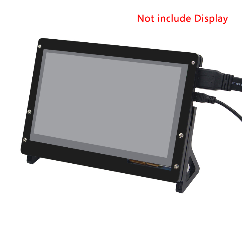 7 Inch LCD Acrylic Case Raspberry Pi 3 Model B LCD Touch Screen Display Monitor Bracket Case for Raspberry Pi 3 LCD 3 5 inch touch screen tft lcd 320 480 designed for raspberry pi rpi 2