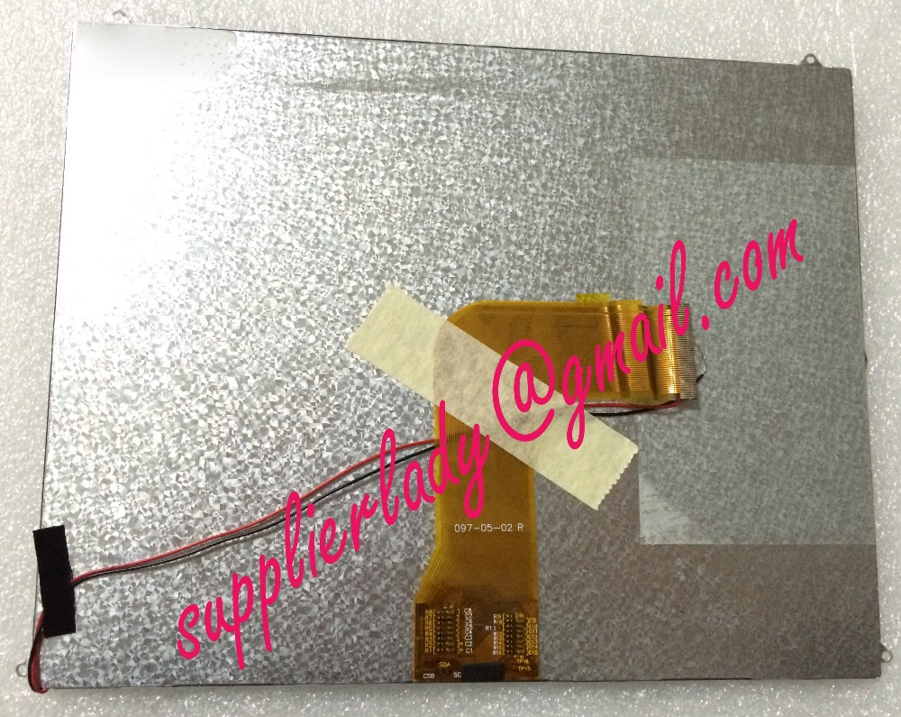 Original and New 9.7inch LCD screen 097-05-02 R for tablet pc free shipping original and new 7inch 41pin lcd screen sl007dh24b05 sl007dh24b sl007dh24 for tablet pc free shipping