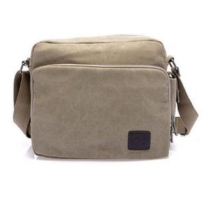Image 5 - High Quality Multifunction Canvas Bag travel bag men messenger bag brand mens crossbody bag luxury vintage style briefcase w304