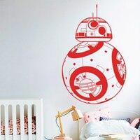 Design moderno Star Wars Wall Stickers Home decor Movie robot DIY Della Parete Del Vinile Della Decalcomania Geek Gamer Smontabile Murale carta da parati