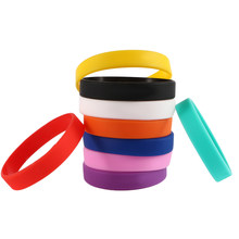 1Pc Silicone Rubber Wristband Bracelets New Basketball Sports Casual Bangle Multicolor Power Bands Energy for Women Men(China)
