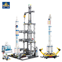 KAZI 83001 822pcs Space Series Rocket Station Building Block set Kids DIY Educational Bricks Toys Gift compatible legoingly
