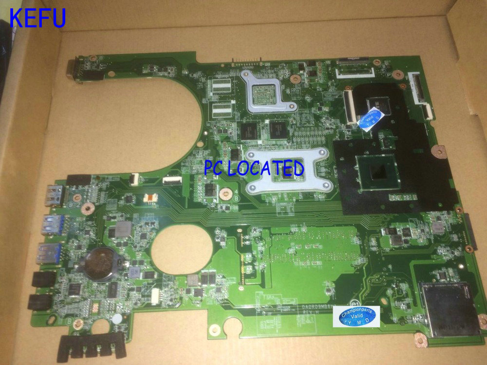 KEFU NEW FREE SHIPPING  DA0R09MB6H1 REV : H1 Motherboard for Dell inspiron 5720 Notebook PC (FIT FOR DELL INSPIRON 7720 072P0M) free shipping 90 days warranty new laptop motherboard for dell inspiron n5110 notebook 0j2ww8 cn 0j2ww8