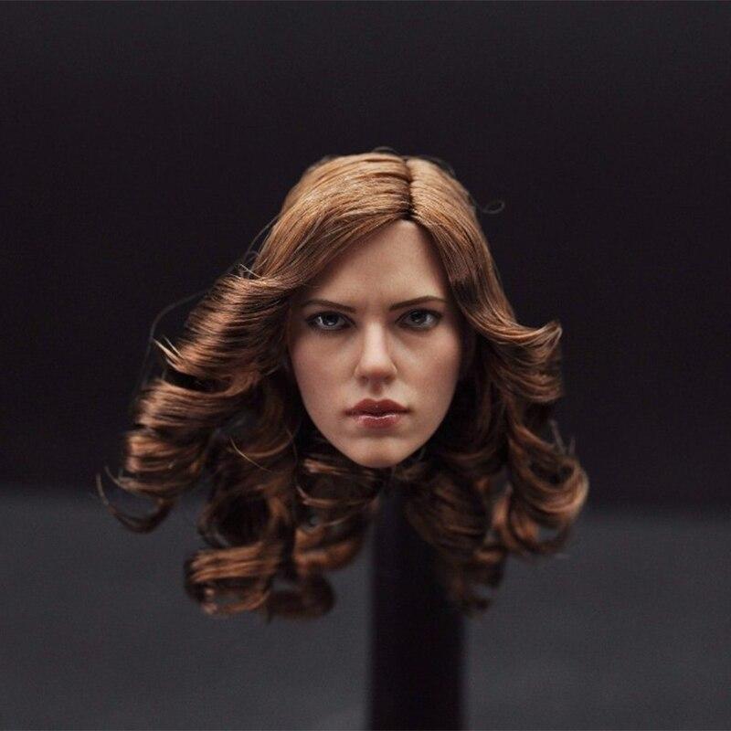 feminino cabeça da menina com curlycarving marrom
