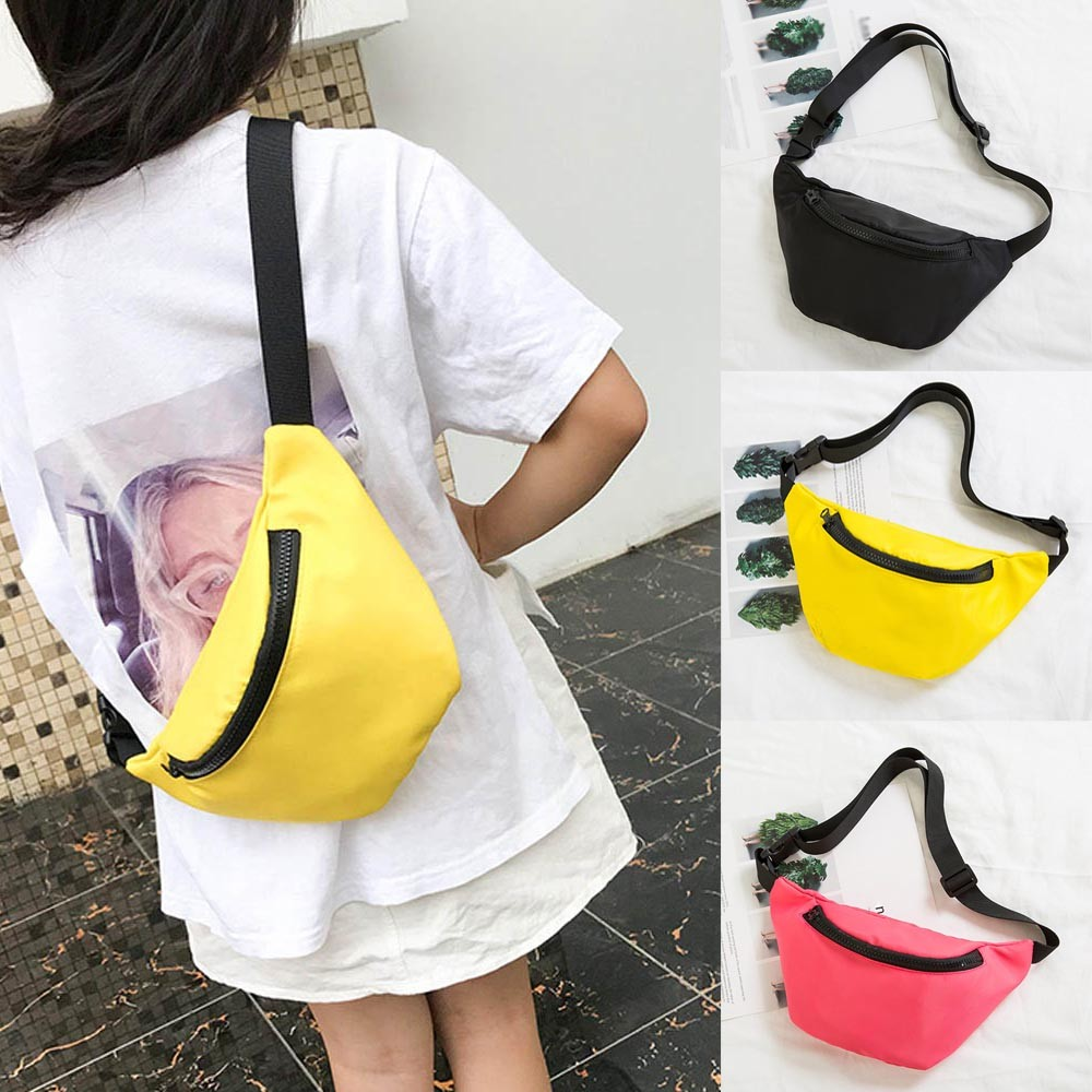 ISHOWTIENDA Fanny Pack Women Waist Bag Hip Bag Travel Bum Bag Hengreda Men Waistbag Belt Bolsa De Cintura Black #