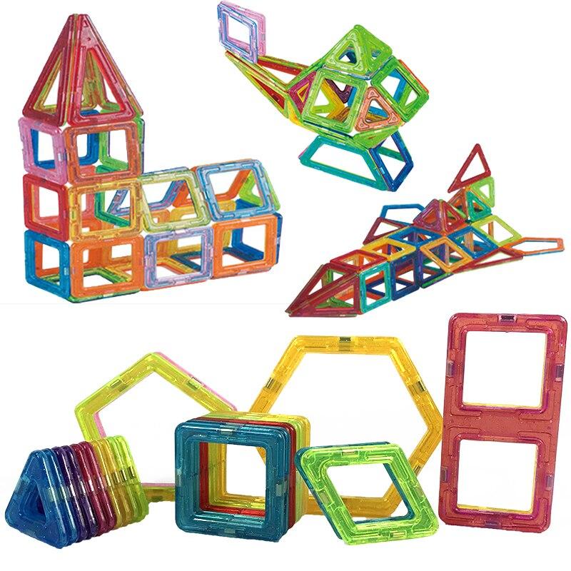 26 Uds. Mini conjunto de construcción magnética de diseño de diferentes colores de plástico de juguete magnético para niños regalo de Navidad